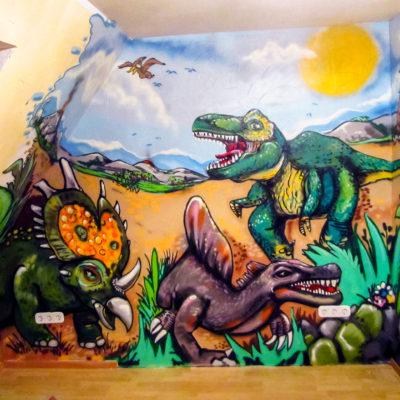 Dinosaurier im Kinderzimmer
