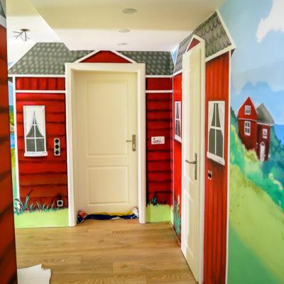 Schwedenhäuser in einer Wohnung